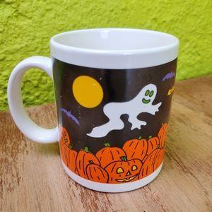 Vintage   Fall Coffee Mug Pumpkins Ghost